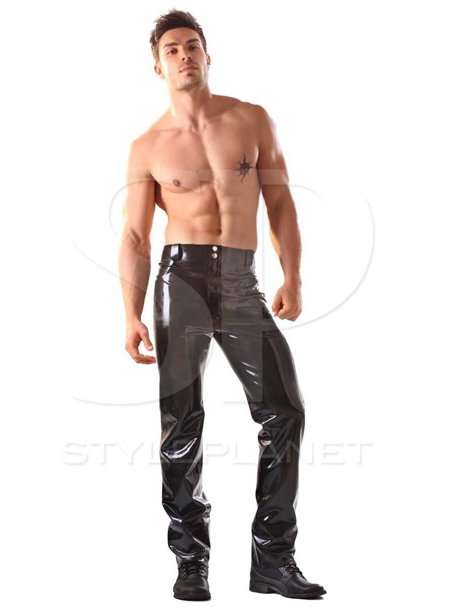 latex jeans herren hosen. Black Bedroom Furniture Sets. Home Design Ideas